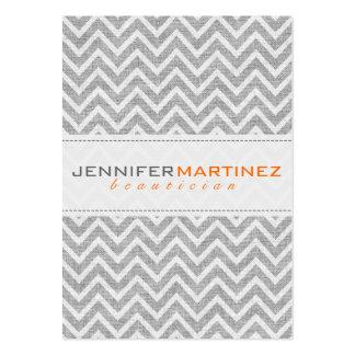 Textura de lino 3 del modelo retro gris claro de C Tarjetas De Visita Grandes