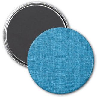 Textura de lino retra azul imanes de nevera
