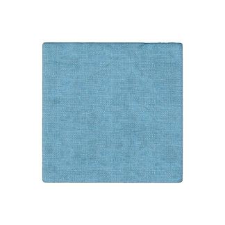 Textura de lino retra azul imán de piedra