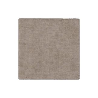 Textura de lino retra de Brown Imán De Piedra