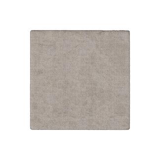Textura de lino retra del moreno imán de piedra