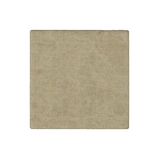 Textura de lino retra del oro imán de piedra