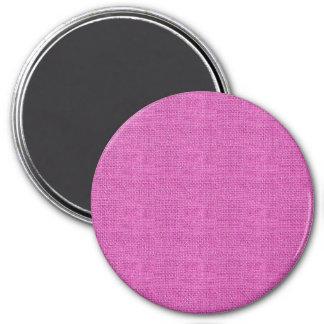 Textura de lino retra rosada imán