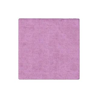 Textura de lino retra rosada imán de piedra