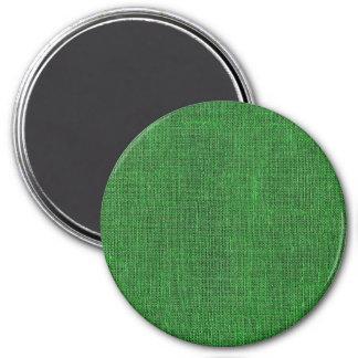 Textura de lino retra verde imán de nevera