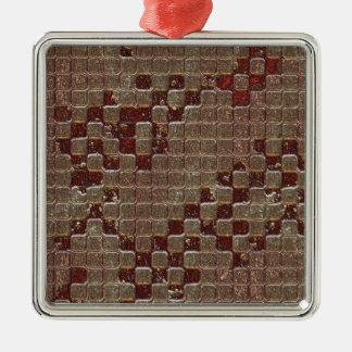 Textura de los cuadrados de Brown Ornamento De Reyes Magos