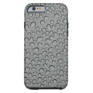 Textura de los descensos del agua funda resistente iPhone 6