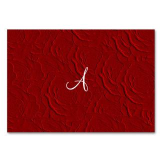 Textura de los rosas rojos del monograma falsa