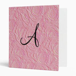 """Textura de los rosas rosados bonitos del monograma carpeta 1"""""""