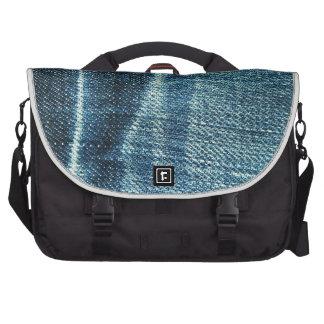 Textura de los tejanos bolsas para portátil