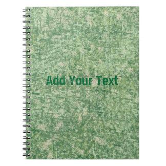 Textura de los verdes libretas
