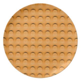 Textura de lujo de Contruction del ladrillo del ju Platos Para Fiestas