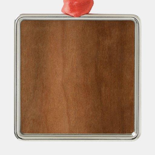 Textura de madera adorno cuadrado plateado