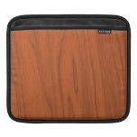 Textura de madera anaranjada hermosa mangas de iPad