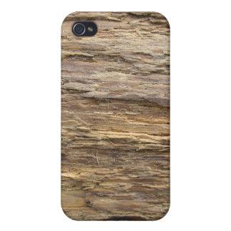 Textura de madera astillada iPhone 4 carcasas