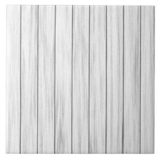 Textura de madera blanca de la pared azulejo cuadrado grande