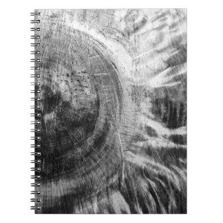 Textura de madera blanco y negro cuadernos