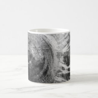 Textura de madera blanco y negro taza básica blanca