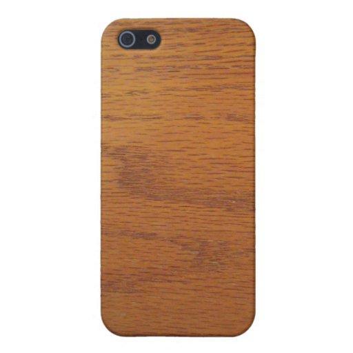 Textura de madera caliente del grano iPhone 5 funda