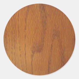 Textura de madera caliente del grano etiqueta redonda