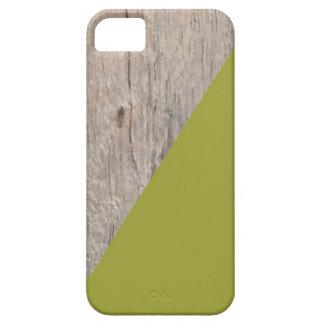Textura de madera con el acento de la verde salvia iPhone 5 Case-Mate carcasa