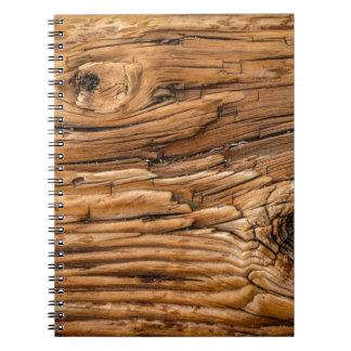 Textura de madera spiral notebooks
