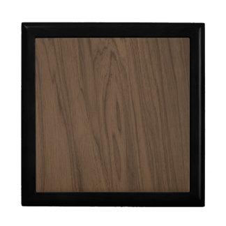 Textura de madera de Brown de la moca hermosa Caja De Recuerdo