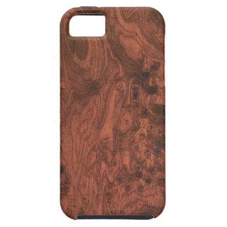 Textura de madera de caoba del Burl iPhone 5 Funda