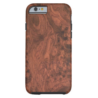 Textura de madera de caoba del Burl Funda Para iPhone 6 Tough