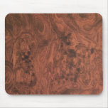Textura de madera de caoba del Burl Tapete De Ratones