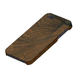 Textura de madera de caoba envejecida iPhone 5 carcasa