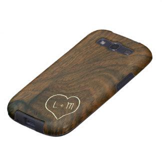 Textura de madera de caoba envejecida personalizad galaxy s3 cobertura