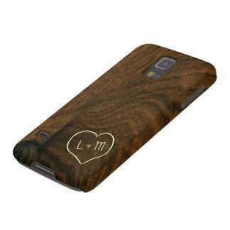 Textura de madera de caoba envejecida personalizad carcasas para galaxy s5