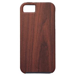 Textura de madera de caoba iPhone 5 Case-Mate protector