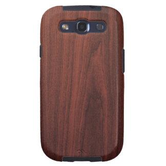 Textura de madera de caoba samsung galaxy s3 carcasas