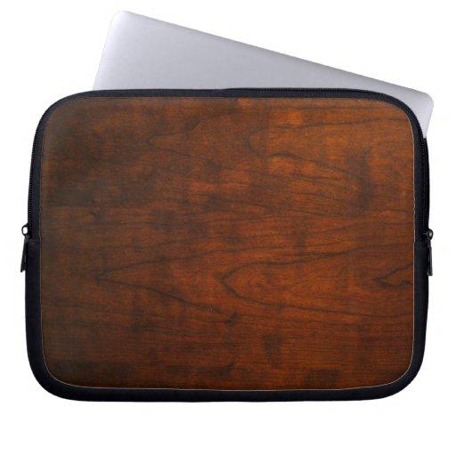 Textura de madera de caoba fundas computadoras