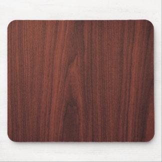 Textura de madera de caoba tapetes de ratón