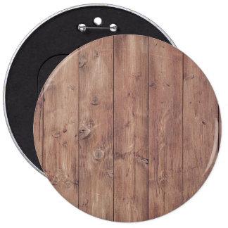 Textura de madera de la pared de Brown Pin Redondo De 6 Pulgadas