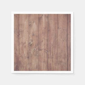 Textura de madera de la pared de Brown Servilletas De Papel