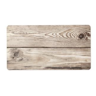 Textura de madera de la pared, fondo de madera de  etiqueta de envío