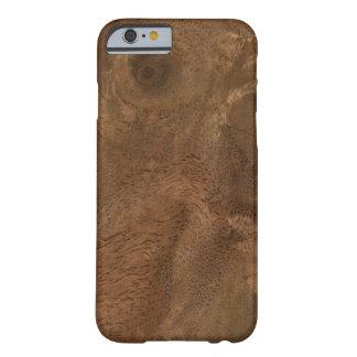 Textura de madera de la raíz funda de iPhone 6 barely there