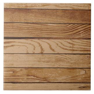 Textura de madera de los tableros azulejo cuadrado grande