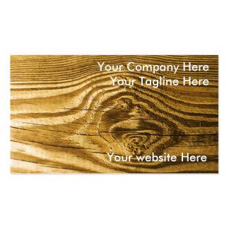 textura de madera del fondo del grano del nudo tarjetas de visita