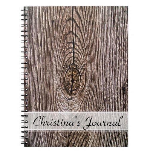Textura de madera del grano con nombre libretas
