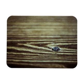 Textura de madera del grano iman rectangular