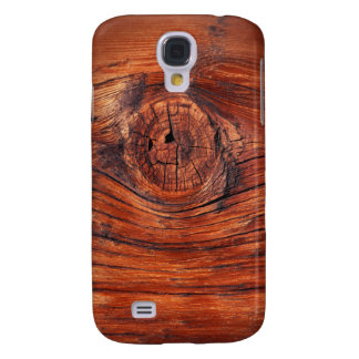 Textura de madera del nodo funda para galaxy s4