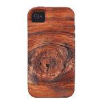 Textura de madera del nodo iPhone 4/4S funda