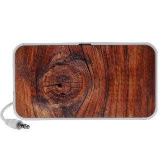 Textura de madera del nodo mini altavoz
