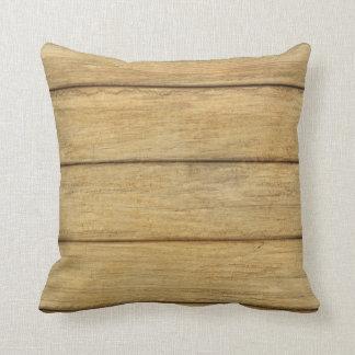 Textura de madera del panel cojines