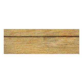 Textura de madera del panel tarjetas de visita mini